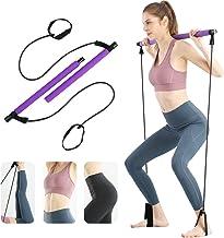 Surplex Bodybuilding Yoga Pilates Stick met voetlus, Pilates Bar Kit met weerstandsband, draagbare yoga pilates Stick oefe...