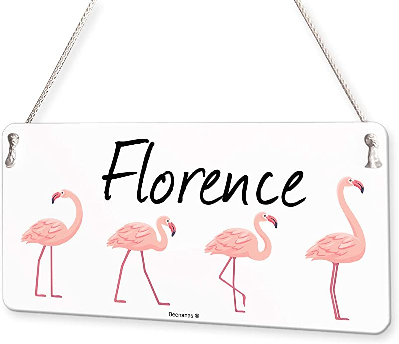 Pink Flamingos Personalised Childs Bedroom Door Sign Name Plaque