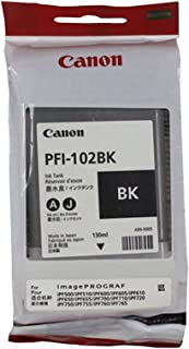 Canon PFI-102BK 0895B001 IPF500 IPF510 IPF600 IPF605 IPF650 IPF700 IPF765 Ink Cartridge (Black) in Retail Packaging