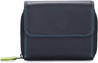 billetereo monedero de piel para mujer -mywalit - Small Zip Around Tri-fold- 1239-4 - Black pace