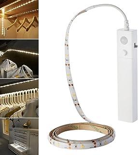 Dxlta Luz LED - Lámpara Flexible de Sensor de Movimiento de Tira de luz Nocturna de Modo Doble para Armario de Dormitorio