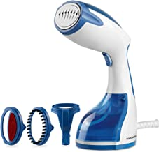 NATURALIFE 1200-Watt Handheld Steamer for Clothes,30 Second Heat-up,8.79 Fluid Ounce Water Tank, Blue