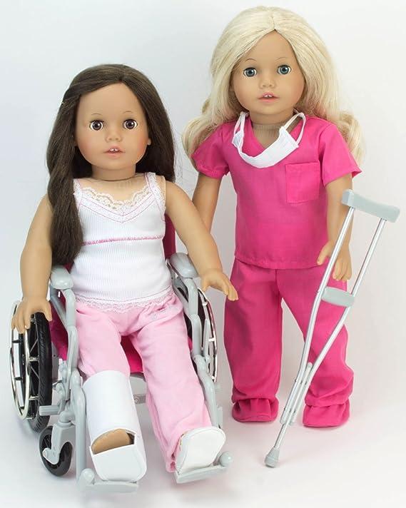 Notre génération Care Set avec pliable fauteuil roulant et Accessoires Filles Poupée Jouet