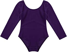TiaoBug Girls Classic Long Sleeve Ballet Dance Leotard Gymnastics One-Piece Bodysuit Dancewear