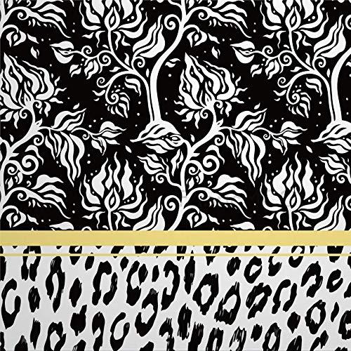 daoyiqi Juego de pegatinas decorativas para azulejos, diseño de cachemir y leopardo, 40,6 x 40,6 cm, vinilo impermeable para decoración de la cocina y el hogar