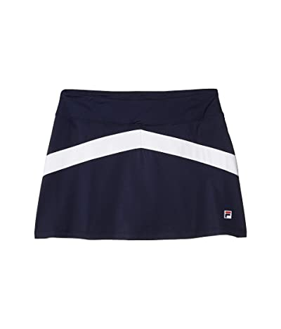 Fila Heritage Tennis Color-Blocked Skort (Navy/White) Women