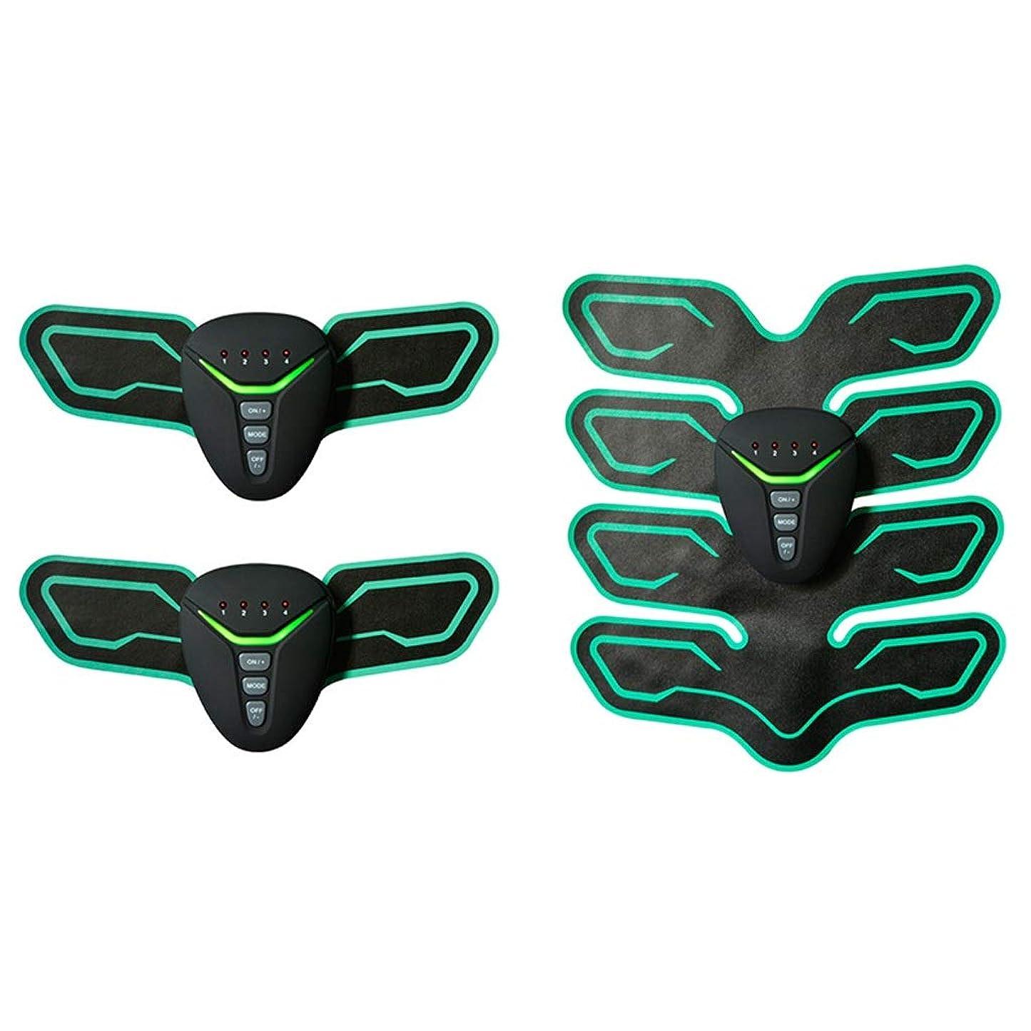 ソース真空四面体ABSトレーナーEMSマッスルスティミュレーターマッスルトナー腹部調色ベルト、ユニセックスホームオフィスエクササイズ腹筋/腕/脚体重を減らすためのトレーニングフィットネス機器