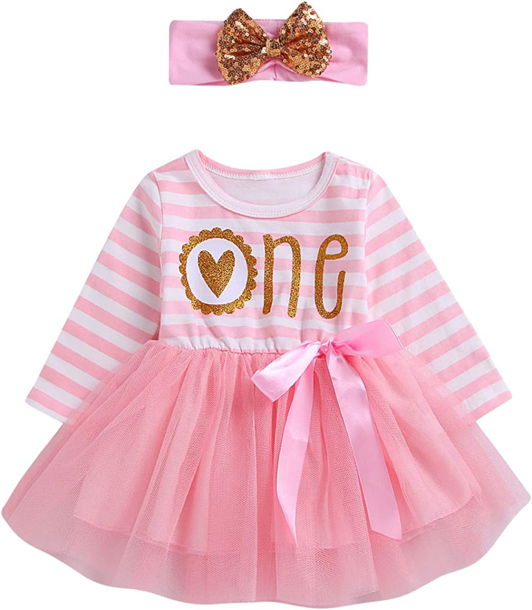 ODASDO Baby Safety and trust Girl sold out First Birthday Print Tutu Donut Dress Princess