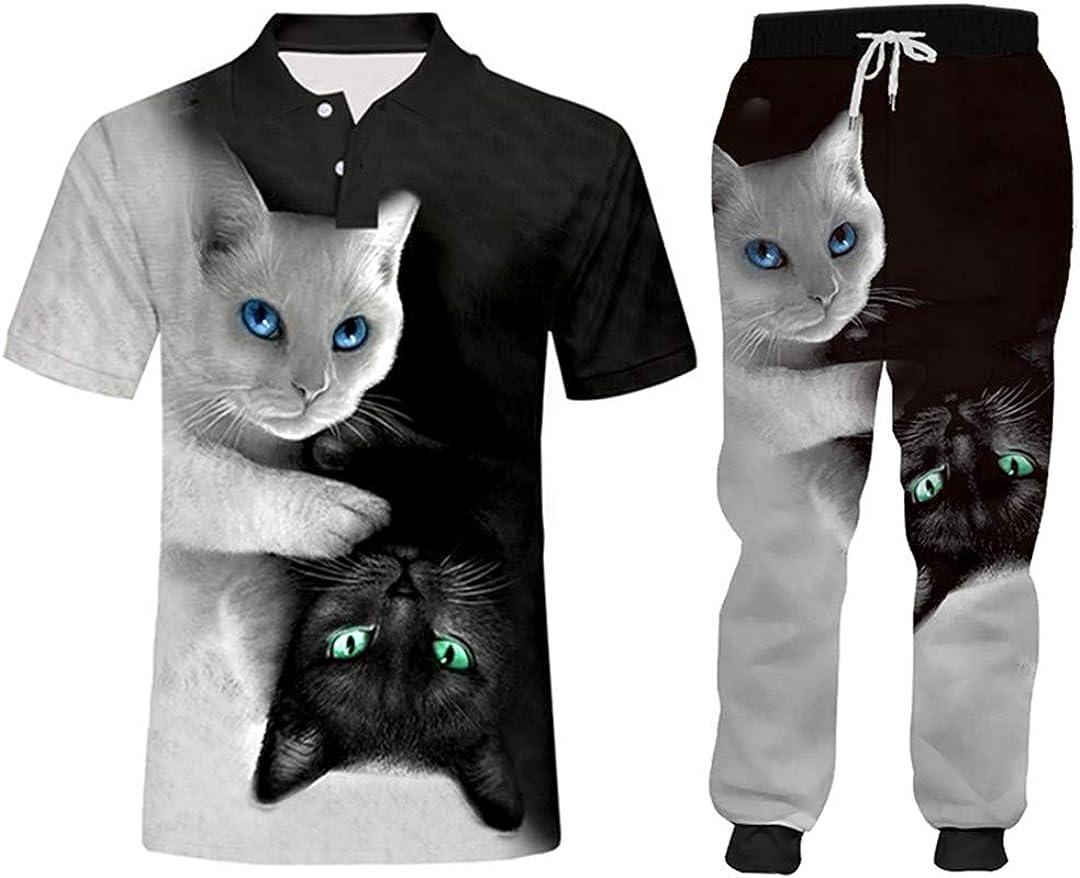 depot Unisex Cat Tracksuit Classic Jacket S Sweatshirt Casual Sportswear+Pants