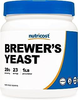 Nutricost Brewers Yeast Powder 1LB (16oz) - Non-GMO, Vegetarian Friendly