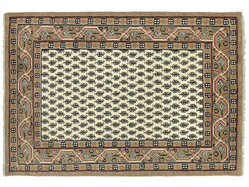 Indo Sarough Mir Beige Rot Orient Teppich Handgeknüpft 100% Schurwolle Herati Beige 180x120 cm