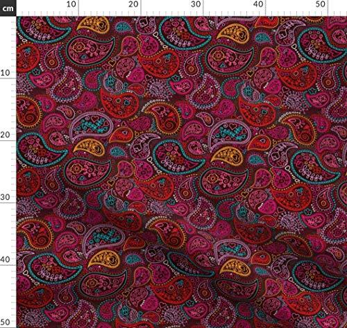 Damast, Arabisch, Indien, Orientalisch, Zeichnung, Paisley Stoffe - Individuell Bedruckt von Spoonflower - Design von Littlesmilemakers Gedruckt auf Baumwollstoff Klassik