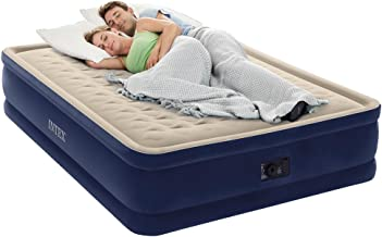 Intex Dura-Beam Series Elevated Deluxe Airbed with Built-In Electric Pump, Bed Height 18