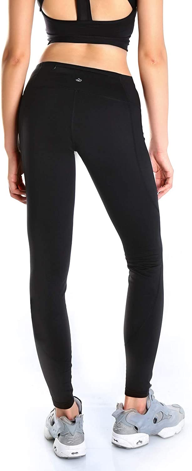 Yogipace Petite//Regular//Tall Womens Water Resistant Fleece Lined Thermal Tights