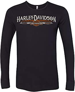Military - Men's Black Long-Sleeve Thermal Shirt - Camp Humphreys | MCMIII Banner - Made in USA