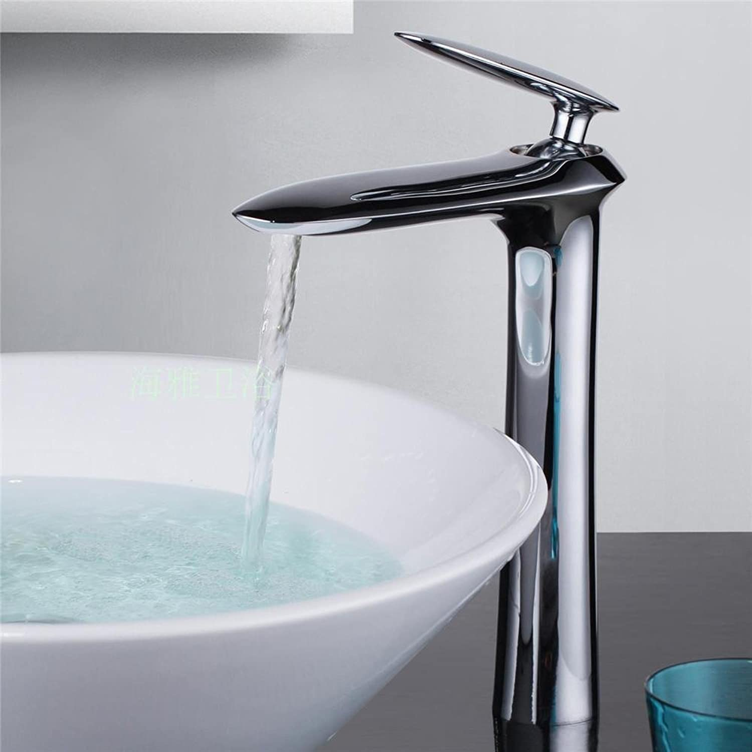 Bathroom Faucet Mixer Tap Single Lever Faucet Bathroom Lavatory Tall Vessel Sink Basin Mixer