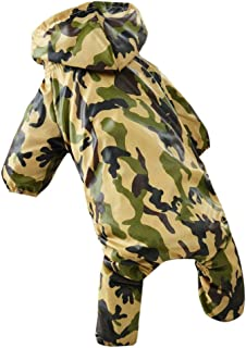 Waterproof Puppy Casual Jacket Costumes Pet Rain Coat Dog Raincoat for Dogs Clothes XS-XL (Green)