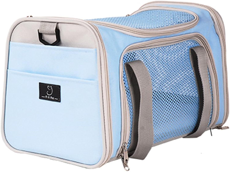 Pet Bag cat Bag Out Portable cat Backpack cat Bag cat Out Bag cat cage Dog Bag Dog Backpack pet Bag 815 kg pet Bag car pet Bag (color   bluee, Size   41  25  25cm)