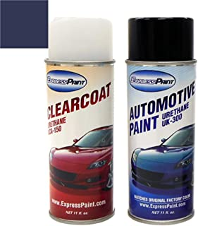 ExpressPaint Aerosol - Automotive Touch-up Paint for BMW Z4 - Monaco Blue Metallic Clearcoat A35 - Color + Clearcoat Package