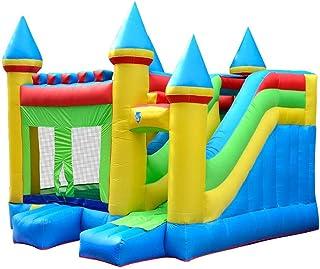 Castillos hinchables Inflable castillo inflable cama infantil Castillo inflable de diapositivas en casa de interior y al aire libre Trampolín Castillo inflable ( Color : Azul , Size : 410×380×410cm )