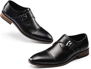 Men's Monk-Strap Buckle Loafer Slip On Dress Shoes