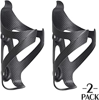 TOSEEK Carbon Fiber Water Bottle Cages Lightweight Bicycle Water Bottle Holder Bike Cages Brackets