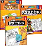 180 Days of Practice for Third Grade (Set of 3), 3rd Grade Workbooks for Kids Ages 7-9, Includes 180 Days of Reading, 180 Days of Writing, 180 Days of Math