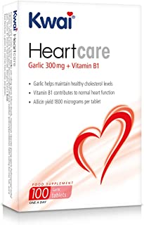 Kwai Heart Care Garlic 300mg (one-a-day), 100 tablets