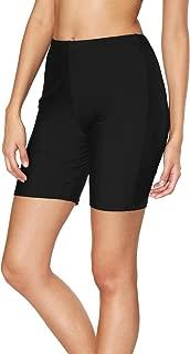 Sociala Women's Long Board Shorts High Waisted Swim Bottoms Rash Guard Shorts