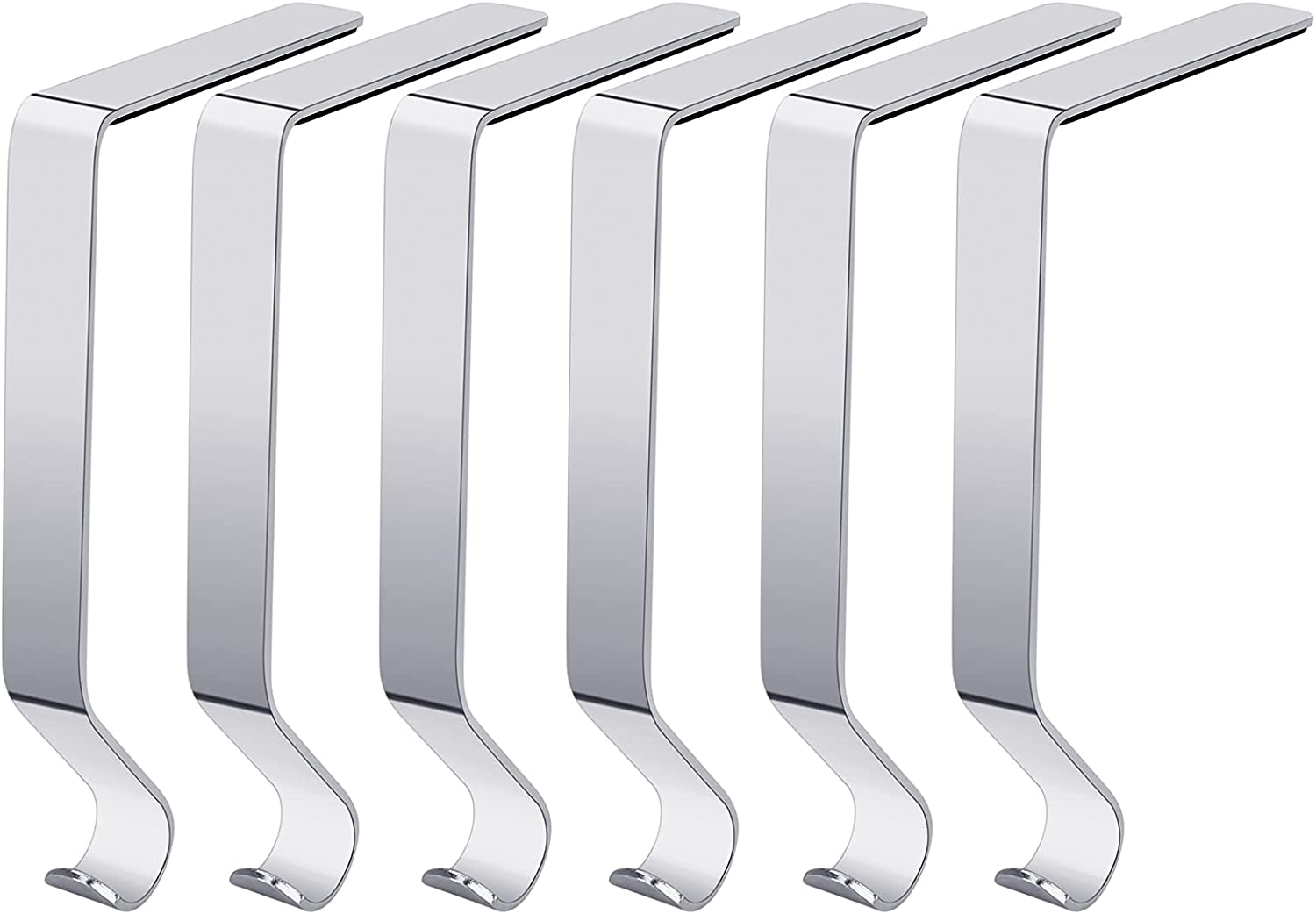 Recommended NACIMAX 6 Pieces Christmas Stocking Ma for Max 75% OFF Mantel Holders Metal