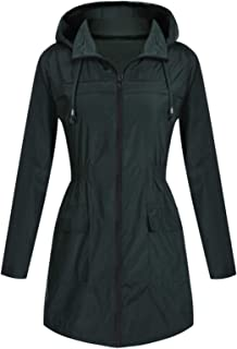 5b9e751ce Mavis Laven Women's Rain Jacket Waterproof Light Weight Active Outdoor  Raincoat Hooded