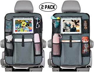 Backseat Car Organizer, Kick Mats Cover Car Seat Protector with Touch Screen 10