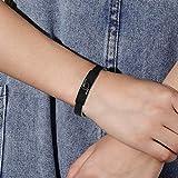 Zoom IMG-1 junean bracciale in pelle nera