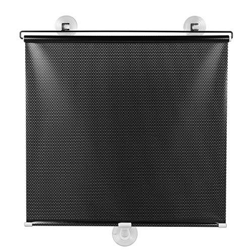 VOSAREA Free-Perforated Balcony Suction Sunshade Blackout Curtain Persianas temporales Portátil para Ventana de Puerta (Punto de Malla Negro)