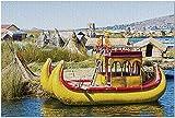 HDチチカカ湖ペルー-浮島9033215(19x27大人用プレミアム1000ピースジグソーパズル)