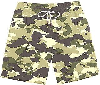 XIELH Shorts Summer 3D Printed Beach Pants Home Plus Size Loose Pants 3D Camouflage Beach Shorts