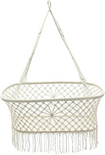 Baby Products White Cotton Baby Garden Hanging Hammock Baby Cribs Cotton Woven Rope Swing Patio Chair Seat Bedding Baby Ca...