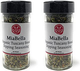 MiaBella USDA Organic Tuscany Bread Dipping Seasoning Spices Blend for Olive Oil