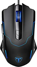 PICTEK Gaming Mouse Wired, 6 Buttons Ergonomic Optical USB Mouse PC Computer Gaming Mice, DPI Adjustable Auto Breathing Light for Windows 7/8 / 10 / XP Vista Mac MacBook Linux, Black