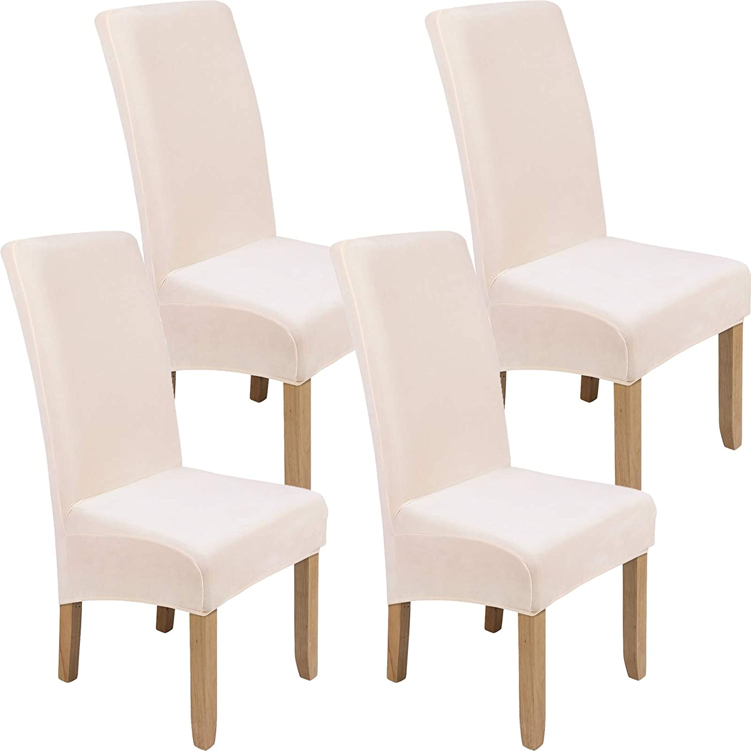 Limited time trial price Colorxy Large Velvet Spandex Recommended Chair Covers of for Dining Set Room