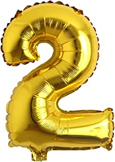 small foil balloon numbers