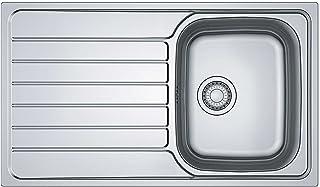 Franke Spark SKX 611 Edelstahlspüle glatt Küchenspüle Einbauspüle Drehknopfventil