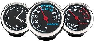 Winomo Set mit Uhr und Hygrometer und Thermometer, beleuchtet, für das Auto, 3 teilig