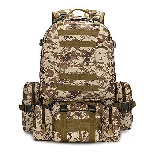 NYKKOLA Sac de sport multifonctionnel militaire tactique grande capacité étanche Molle sac à dos randonnée camping trekking gym