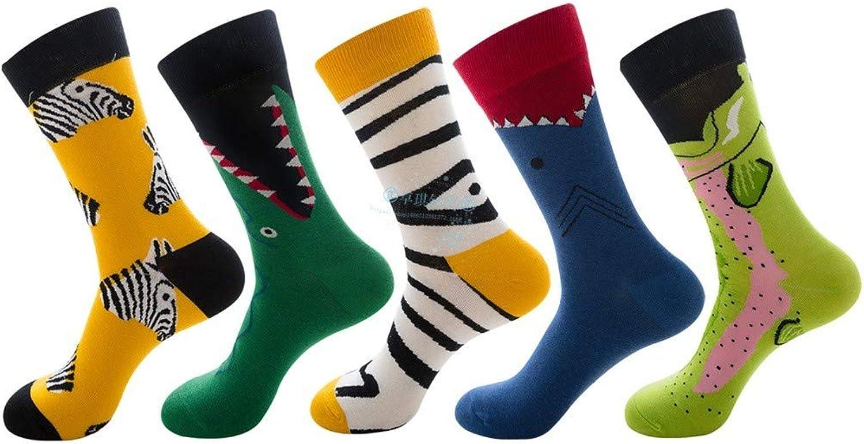 Hyf Socks 5 Pairs Of Fashion color Men'S Socks Personality Couple Socks