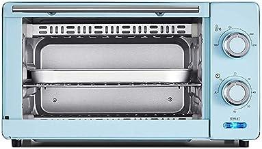 11L Mini Horno Doble Asa A Neto Y El Tiempo De 60 Minutos, Incluyendo Bandeja De Escoria Separada De 8 Pulgadas Torta De Gasa / 8 Alas De Pollo / / Pastelería/Pizza,Azul