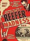 Vintage Anti-Drug Propaganda MARIJUANA THE SWEET PILL THAT MAKES LIFE BITTER! c1936 250gsm Gloss Art Card A3 Reproduction Poster by World of Art