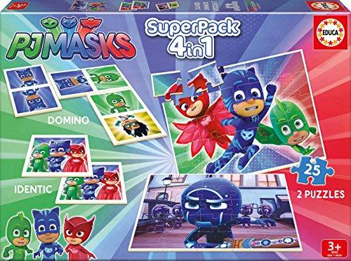 PJ Masks Pack de 4 Juegos educativos en 1 (Educa Borrás 17258)