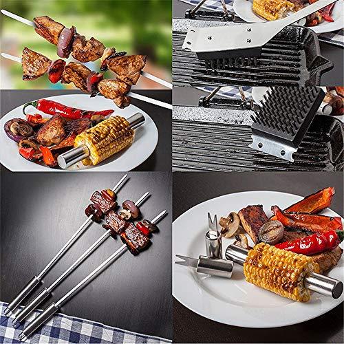 61jemWH2mIL - IAMXXYO 19PCSBBQ Barbecue-Werkzeug-Set, Edelstahl Grilling Kit Mit Aluminium-Gehäuse Für Camping, Premium-Grilling Grill Zubehör Für Outdoor, The Perfect BBQ-Geschenk-Set!
