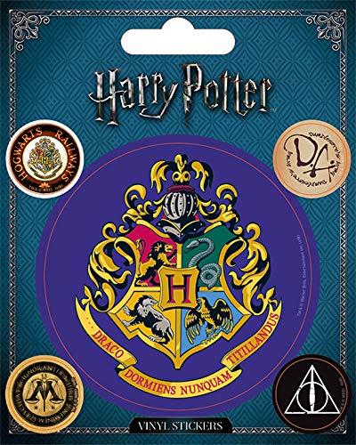 Stickerset Set 5 Sticker Aufkleber Hufflepuff ca 10x12,5 cm Harry Potter
